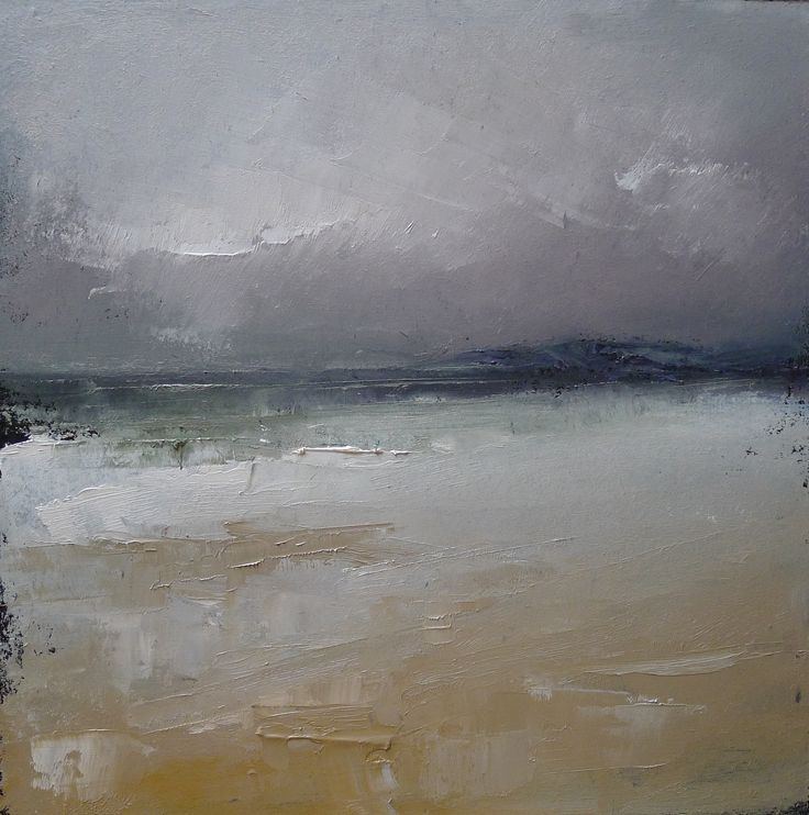 Machrihanish Bay 9 x 9 inch Oil oil on board