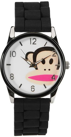 Paul Frank black Julius watch thestylecure.com