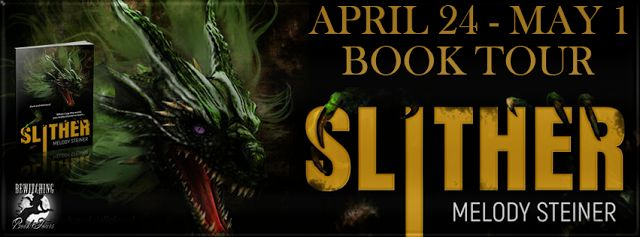 4 Star Review for Slither by Melody Steiner Includes Herds of Dragons!     Slither  Melody Steiner  Genre: Fantasy  Publisher: Dragon Moon Press  Date of Publication: April 24 2017  Number of pages: 310  Cover Artist: Gwen Gades  Tagline: Her revenge is b #datingalliance #alliance #allianceusa