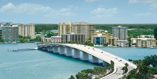 Sarasota Bridge to Lido Key. My commute... :)