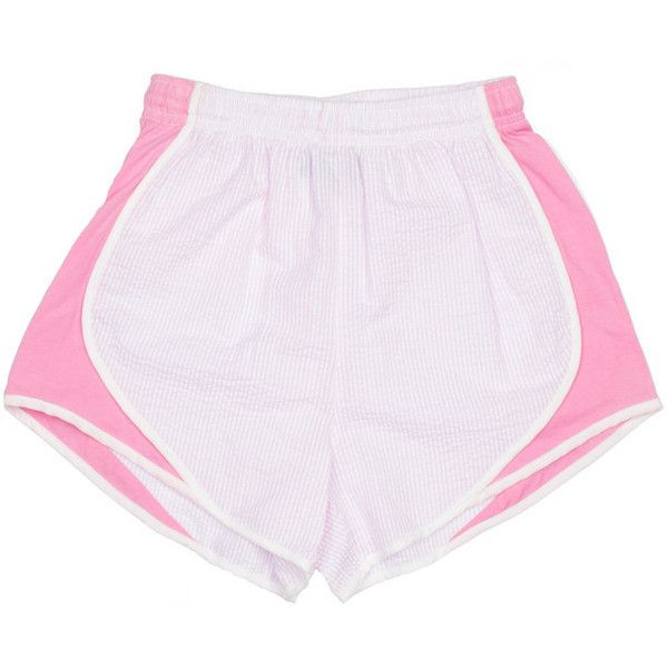 Seersucker Shorties (€38) ❤ liked on Polyvore featuring shorts, bottoms, clothing - shorts and seersucker shorts
