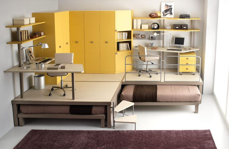 Colorful Teenage Loft Bedrooms by Tumidei