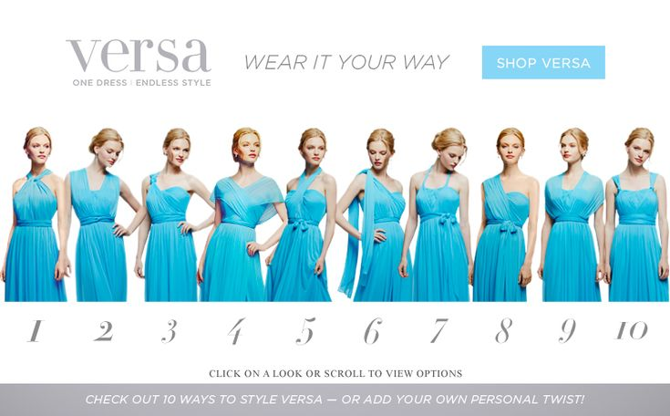 New Versa Bridesmaid dress at David's Bridal! Just Pick a color and let your girls choose which style that fits them best!