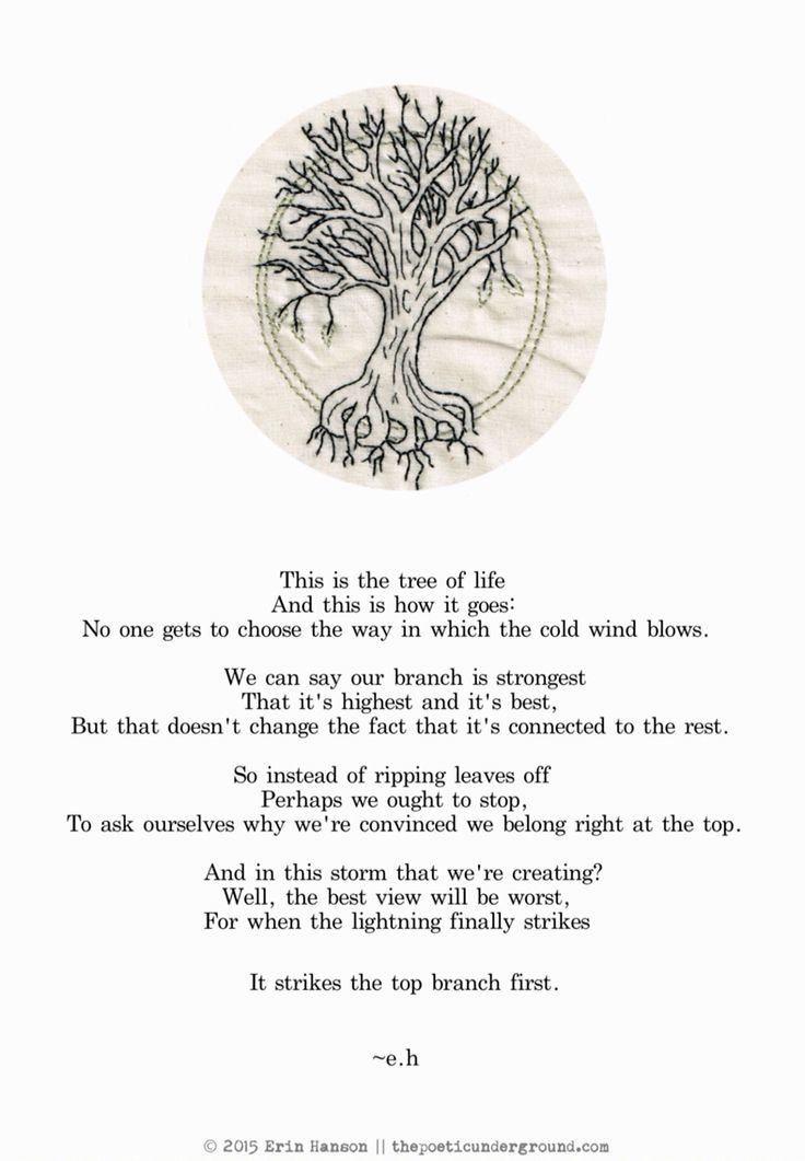 The Tree of Life -e.h. | w o r d s | Poems, Quotes, Tree ...