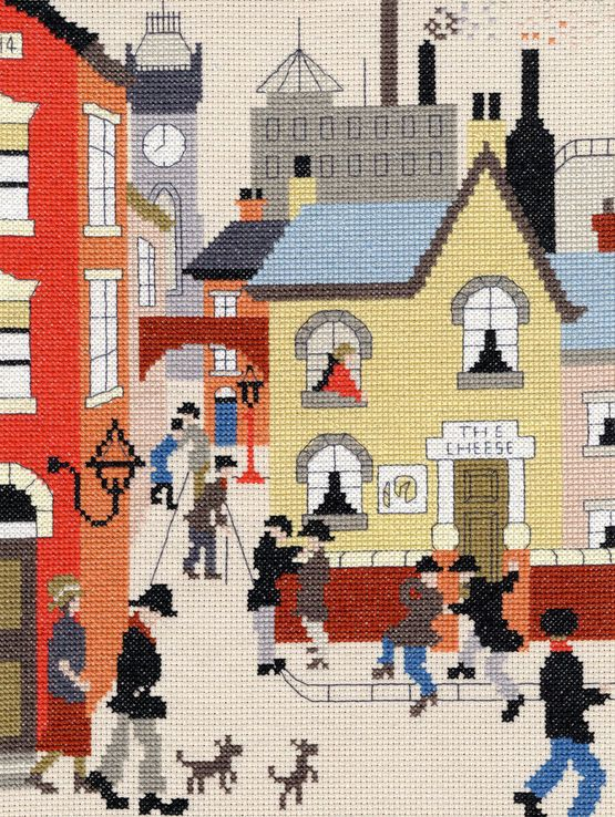 Lowry - The Cheese Cross Stitch Kit £26.26 | Past Impressions | Bothy Threads
