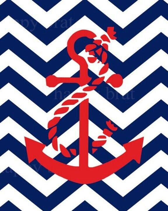 Anchor Chevron Background Blue And Red Screensavers
