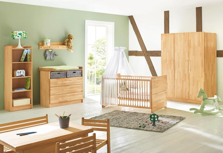 Kinderzimmer Natura Massivholz von Pinolino