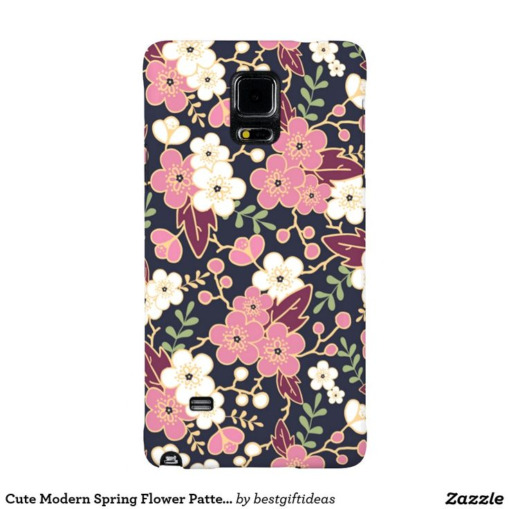 Cute Modern Spring Flower Pattern Girly Floral Galaxy Note 4 Case