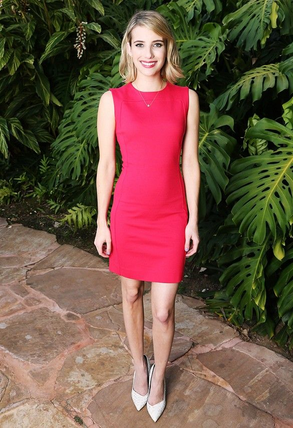 Emma Roberts wears a perfect red dress by Dsquared2 // #CelebrityStyle
