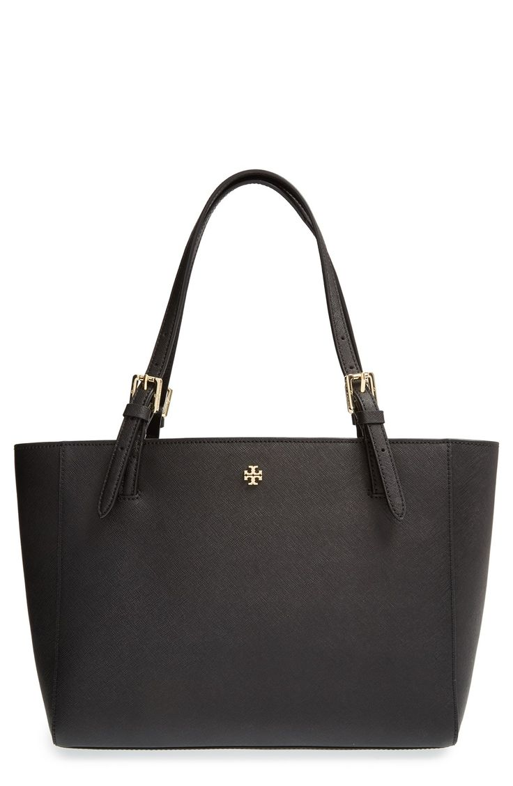 Tory Burch 'Small York' Saffiano Leather Buckle Tote