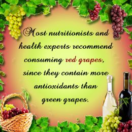 Red grapes healthier than green grapes