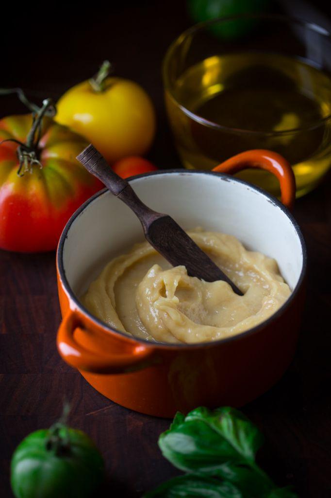 Stove Top Roasted Garlic Puree and Roasted Garlic Oil on HealthySeasonalRecipes.com