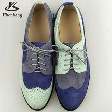 2016 blanco azul zapatos de las mujeres planas pisos de punta redonda de cuero…