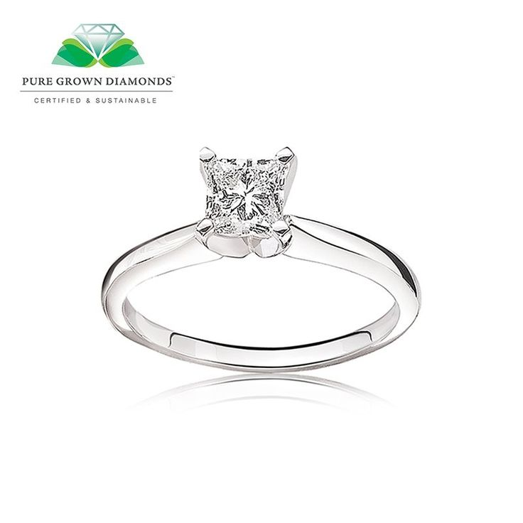 Pure Grown™ Diamond Solitaire Engagement Ring In 14k White