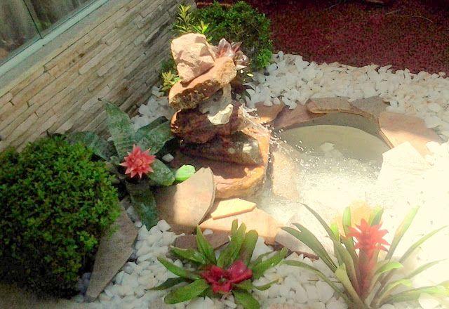 Passo a passo de fonte de pedras para cantinho Zen - http://florser.blogspot.com.br/