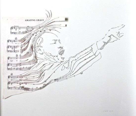 Sheet Music Collages by Erika Iris Simmons