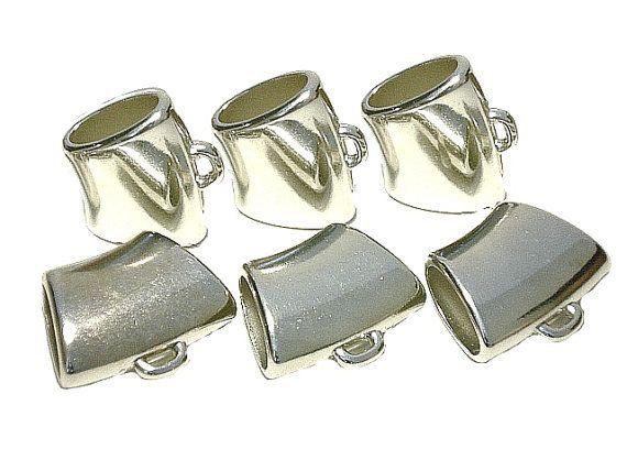 Silver Tone Scarf Bail