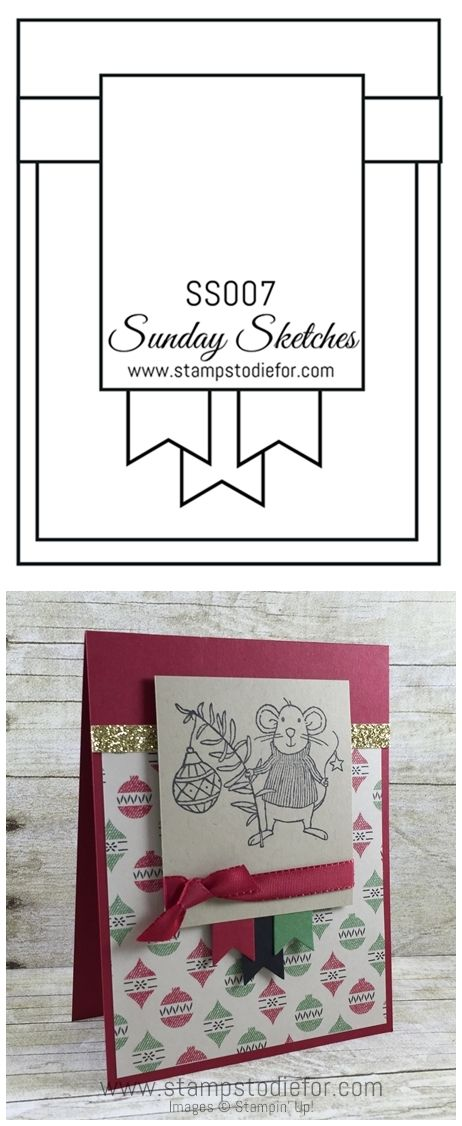 Welcome to Sunday Sketches SSOO7 by Stamps to Die For. Each Sunday I post a card sketch along with a card I created using the sketch.  Sketches often help get my creativity fired up.