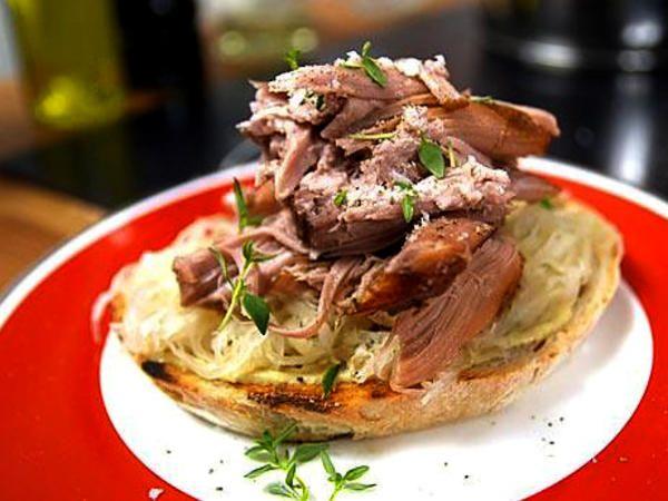 Pulled pork sandwich med surkål