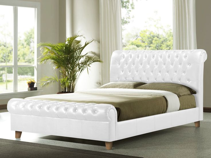 25 best ideas about Leather bed frame on Pinterest Fluffy bed
