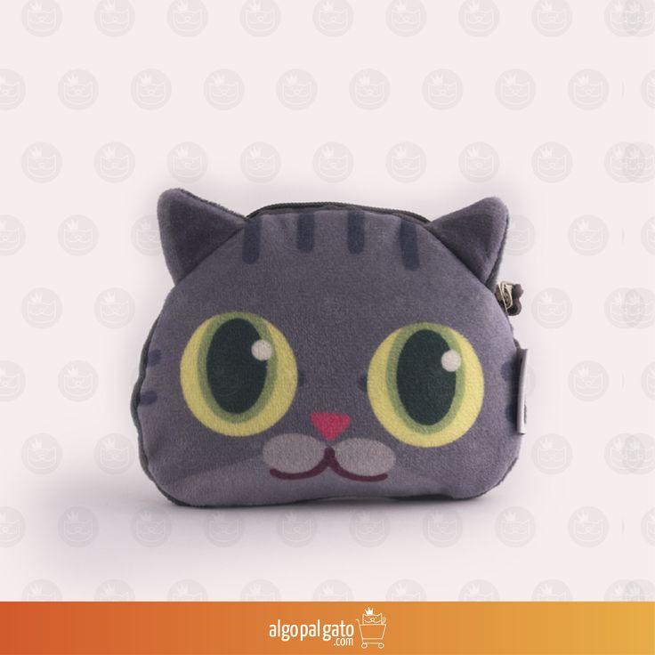 Nombre: Monedero Gato Ruso Talla: Pequeño Color: Gris
