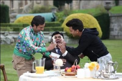 Yes! You read it absolutely right!! Sajid Khan has been shooting for the much awaited laugh riot 'Humshakals' in the beautiful locales of London. Read More: http://cityairnews.com/content/when-saif-riteish-gave-ram-kapoor-facial