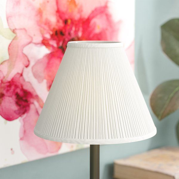Instantly Reinvigorate Tired Lighting With This Tasteful Transitional 8 Empire Lamp Shade Striking A Clean Cone Shaped Si Lamp Shade Linen Lamp Shades Lamp