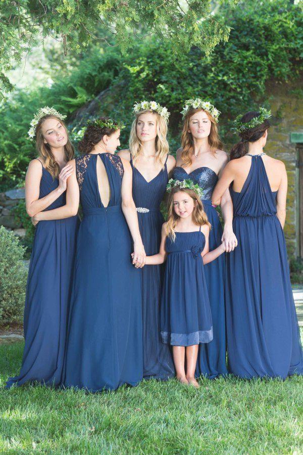 dark blue Mix 'n' Match Bridesmaid Dresses   fabmood.com