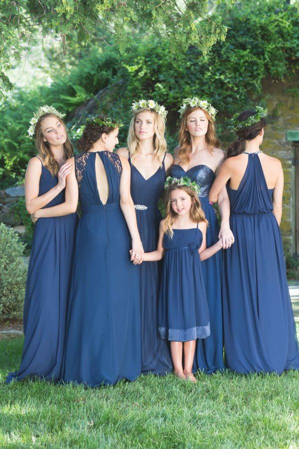 dark blue Mix 'n' Match Bridesmaid Dresses | fabmood.com