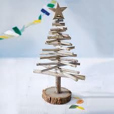 Small Table Top Christmas Tree used with wooden offcuts.