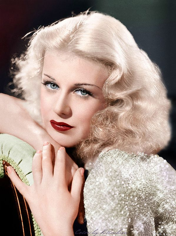 Ginger Rogers - Old Hollywood - Hand-tinted photo.