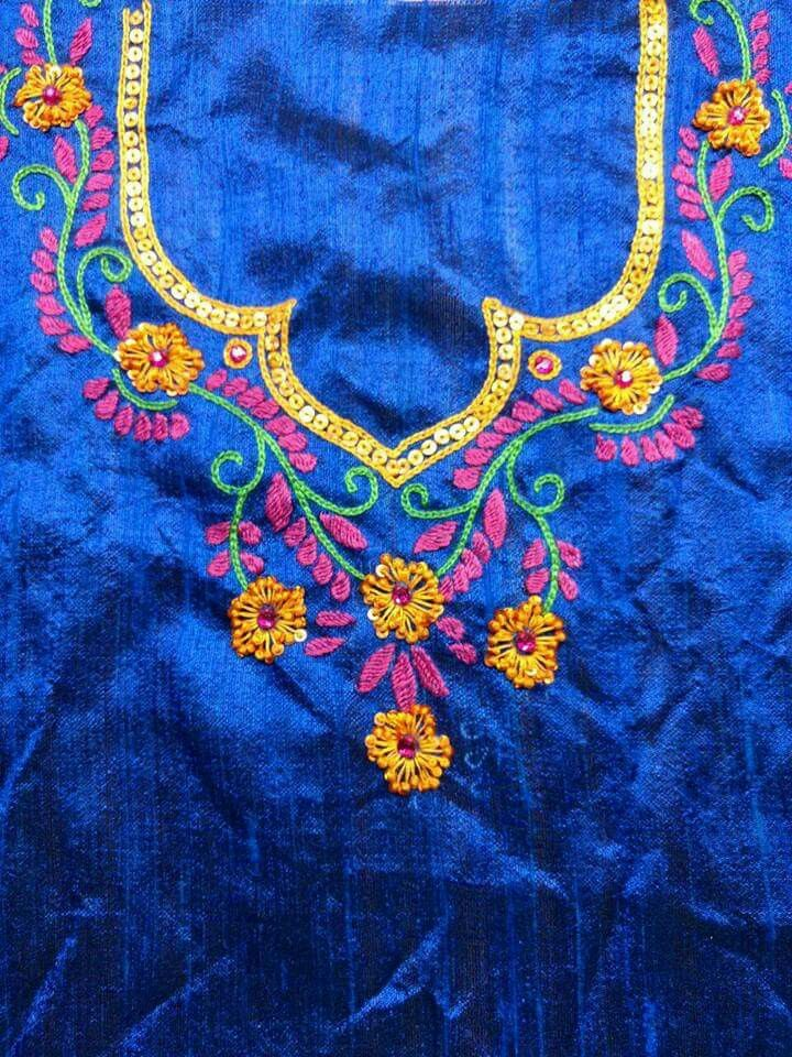 Free style embroidery