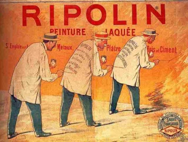 Ripolin vieilles publicit s peintes sur les murs c 39 tait for Peintures ripolin