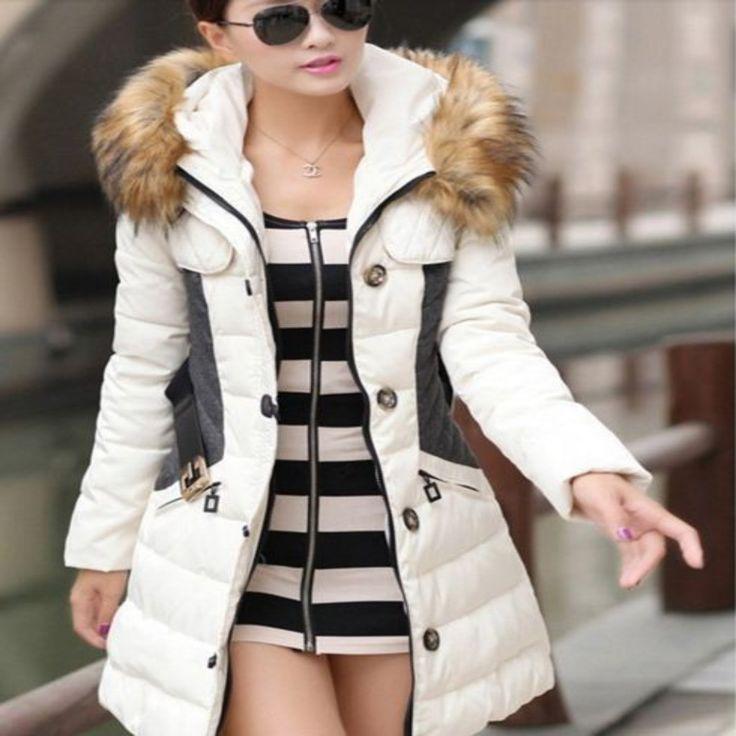 Long Fur Hooded Women Parkas Coat | Daisy Dress for Less | Women's Dresses & Accessories