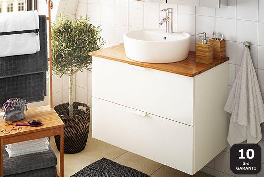 Badrumsskåp, tvättställskåp och kommoder
