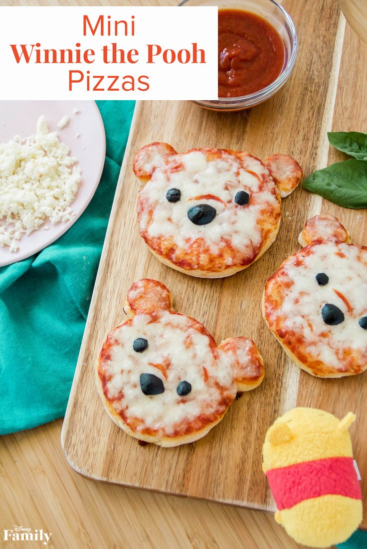 Nothing quite satisfies that rumbly in your tumbly like pizza! With the help of premade pizza dough, these Mini Winnie the Pooh Pizzas come together in a snap—perfect for a last-minute lunch. Click for the Winnie the Pooh recipe.