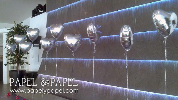 globos metalizdos helio para decorar tu Boda