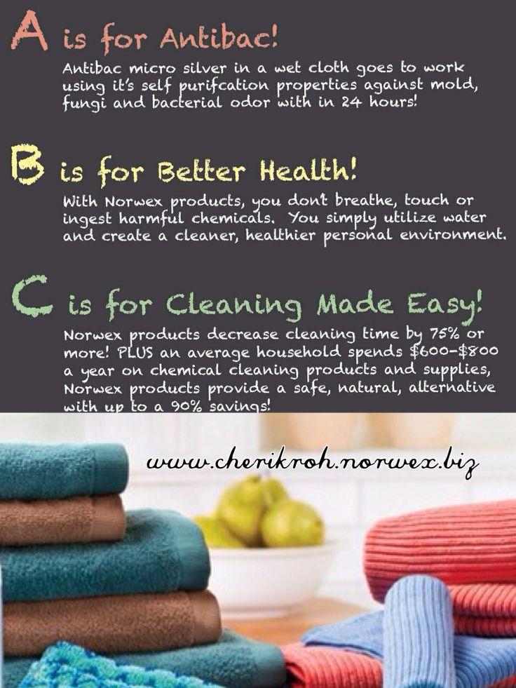 ABC's of Cleaning the Norwex way. Cherikroh.norwex.biz