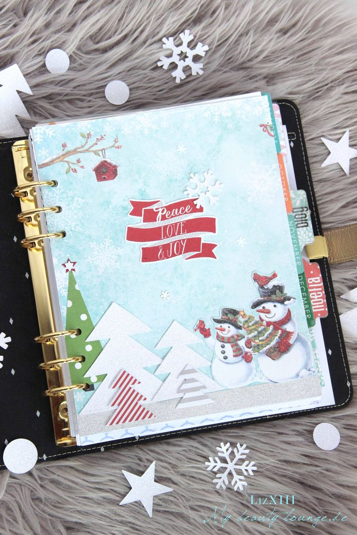 Winter dashboard DIY for my Kikki.K / Erin Condren Planner | LizXIII.com