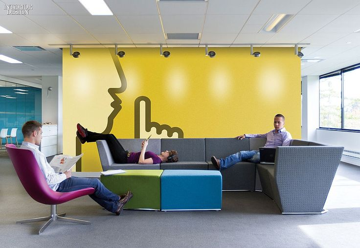 How Tomorrow Works: 5 Offices for Tech Companies | Gensler. Project: Koninklijke Philips. Somerset, New Jersey. #design #interiordesign #interiordesignmagazine #architecture #office #furniture #mural @gHospitality