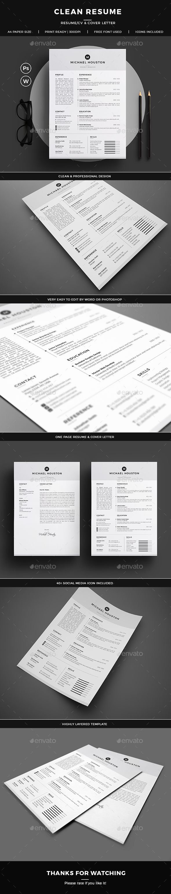 Resume 149 best Currculo u0026 CV Templates