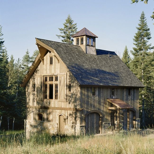 71 best restored barns into homes images on pinterest for Rustic barn plans