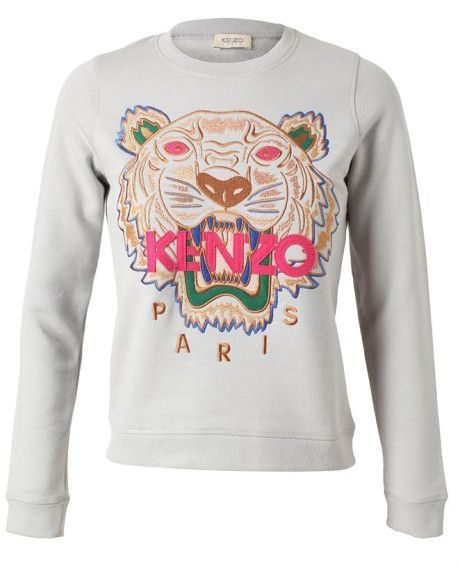 f34b2f0d Tiger Embroidered Cotton Sweater - Lyst | Kenzo xx in 2019 | Kenzo ...
