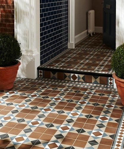 Topps tiles blue/brown