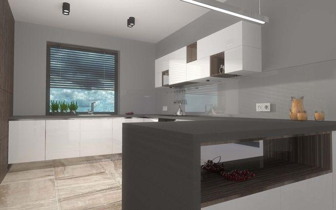 Szafka kuchenna w projekcie nętrza uwzględnającej meble kuchenne wykonywane na wymiar od Mobiliani