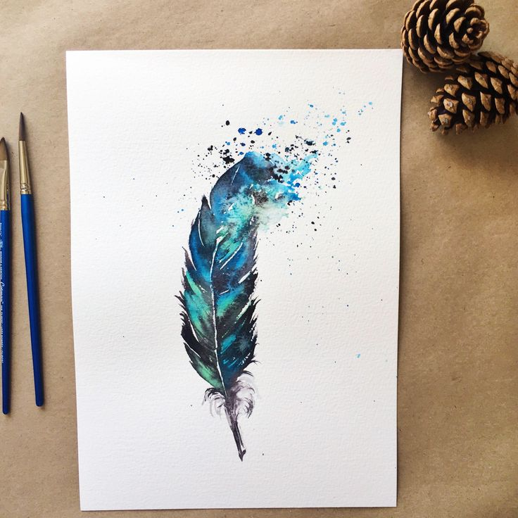 A personal favourite from my Etsy shop https://www.etsy.com/uk/listing/551294803/feather-art-print-watercolour-feather