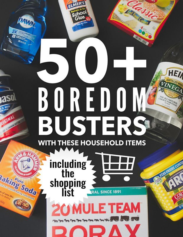 50 amazing boredom busters that can be made with these 8 household