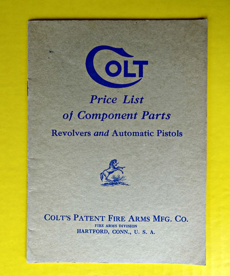 59 best so many books so little time images on pinterest vintage ca 1932 colt fire arms parts price list catalog revolvers pistols old fandeluxe Choice Image