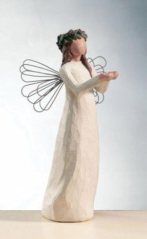willow tree figurines hope | Willow Tree - Angel of Christmas Spirit…