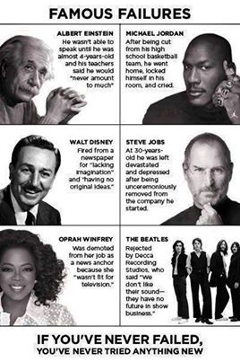 okay...this is not a bad list to be in. Perfect reminder why we need to teach our kids grit and perseverance.